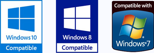 Compatible width Windows 10, 8, 7